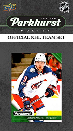 Columbus Blue Jackets 2017 2018 Upper Deck PARKHURST Series Factory Sealed Team Set including Artemi Panarin, Sergei Bobrovsky, Pierre-Luc Dubois Rookie Card plus Card Blue Jackets