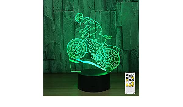 Control Remoto Bicicleta de montaña luz Nocturna lámpara de luz ...