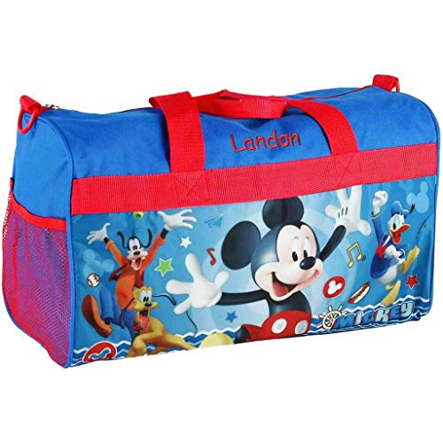 Kids Personalized Duffle Bags (Personalized Licensed Kids Travel Duffel Bag - 18