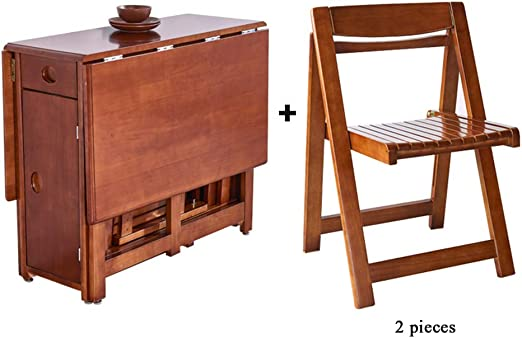 Mesa de Comedor Plegable de Madera Mesa de Cocina telescópica y ...