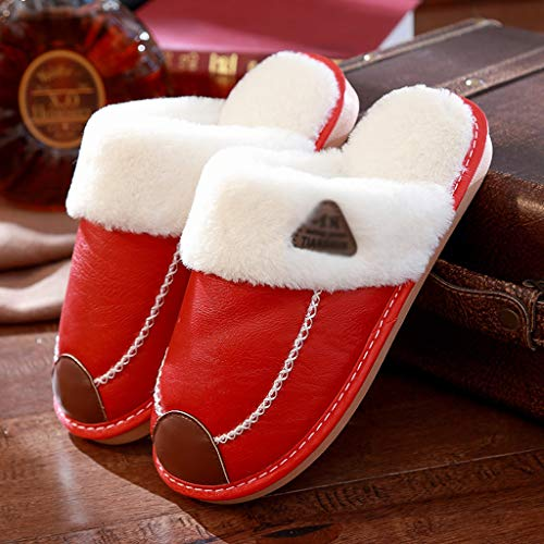 größe Paar Red Hausschuhe Rindfleisch Light Weibliche Winter Home Warme Interior Hausschuhe Sehnen Light Plüsch Wasserdichte 36EU Hause Dicke Rutschfeste Red AMINSHAP Farbe 35 BgAUqIw