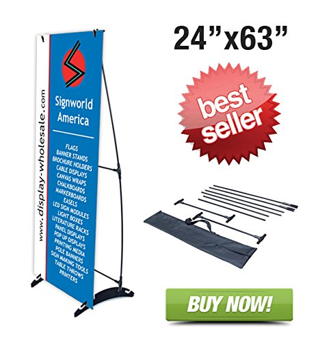 Amazon Signworld H Banner Display Stand Portable Outdoors 40 Adorable Artistic Displays Banner Stands