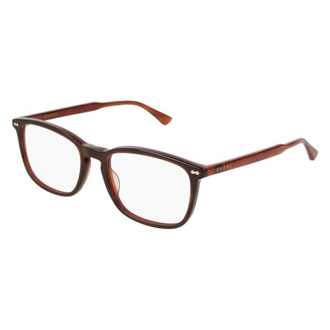 ddf41edbc15 Eyeglasses Gucci GG 0188 O- 005 HAVANA    Amazon.ca  Clothing ...