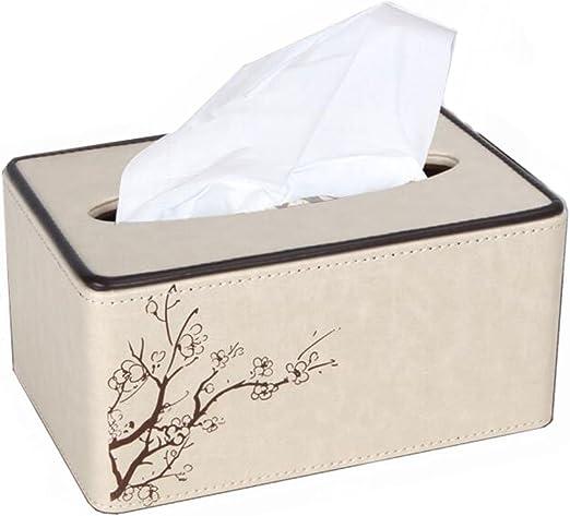 TY- caja de pañuelos Caja de pañuelos de cuero Caja de pañuelos de ...