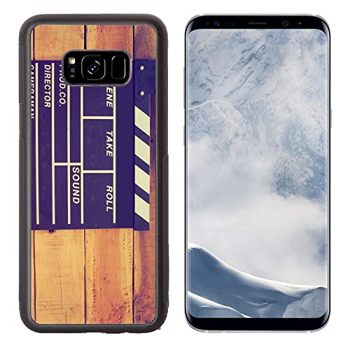 Liili Premium Samsung Galaxy S8 Plus Aluminum Backplate Bumper Snap Case IMAGE ID 32251284 clapper board on wood background vintage color tone (Director Snap Board)