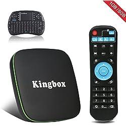 Kingbox K1 Android 6.0 TV Box with Mini Keybaord 1GB RAM+8 GB ROM / H 2.65 /Full HD /BT 4.0/ 2017 Updated Android Box 4K Smart tv box