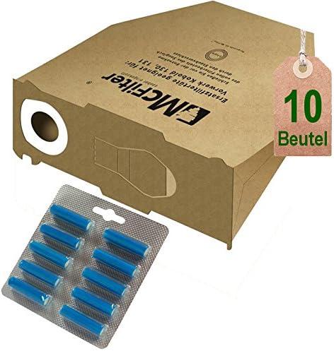 10 bolsas de bolsas de aspiradora y aroma Azul Mar los Restos para Vorwerk Kobold VK 130, Kobold VK 131 y 131 SC: Amazon.es: Hogar