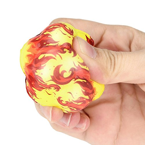 A Drfoytg Clearance,Stress Reliever Toys Fun Squishy Toy Fire Ball Decompression Slow Rising Squeeze Irregular Sphere