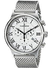Claude Bernard Men's 10217 3M AR Classic Dress Chronograph Analog Display Swiss Quartz Silver Watch