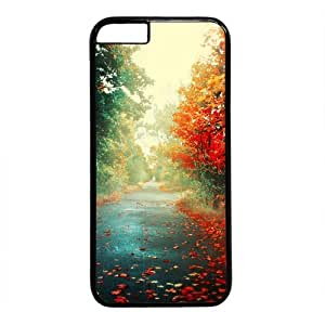 """Autumn Road Theme Case for iPhone 6(4.7"""") PC Material Black by mcsharks"""