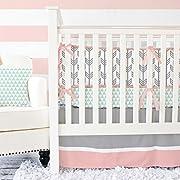 Caden Lane Mint and Coral Arrow 2 Piece Crib Bedding Set