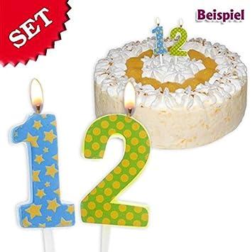 geburtstagsfee Velas Cumpleaños número 12, 2,5 cm: Amazon.es ...
