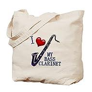 CafePress - I Love My BASS CLARINET - Natural Canvas Tote Bag, Cloth Shopping Bag