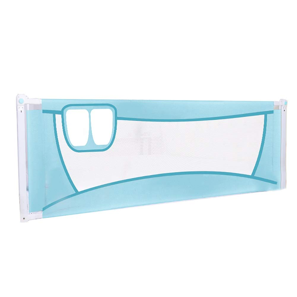 ベッドフェンス 青い赤ん坊のベッドの柵、携帯用折りたたみベッドの監視子供の子供、ロックできるバックルと調節可能な高さ (サイズ さいず : 1.8m) 1.8m  B07PLXVP6N