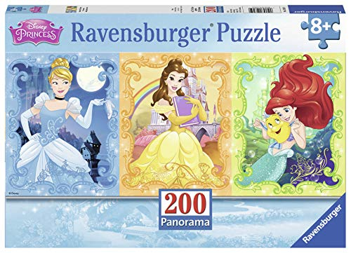 (Ravensburger Beautiful Disney Princesses Panorama 200 Piece Jigsaw Puzzle for Kids - Every Piece is Unique, Pieces Fit Together Perfectly)