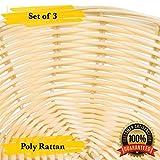 MM Foodservice Plastic Rattan Basket, Rattan