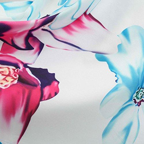 G anni Abito donna in estivi lunghi Vestiti Vintage Abito Sysnant A Vestito Floreale stampato Elegante Vestiti Cotone Line senza maniche Stile Cerimonia '50 Cocktail Donna tSqvBwf