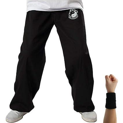 Dee Plus Pantalones de Tai Chi Taza Amplia Hombre y Mujer y ...