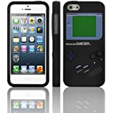 EarlyBirdSavings Black Game Boy Style Silicone Case Cover Skin For iPhone 5 5G 5th