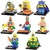 8 Pcs/Set Lego Compatible Spongebob Squarepants Building Blocks Toys