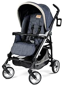 Amazon.com : Peg Perego Pliko Four Stroller, Denim