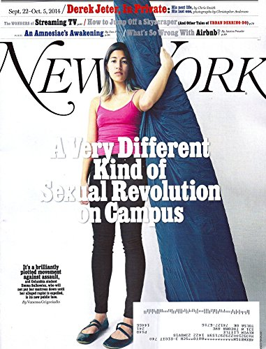 Rape Victim Emma Sulkowicz * Derek Jeter * Streaming TV * Airbnb * Su Meek * September 22-October 5, 2014 New York Magazine