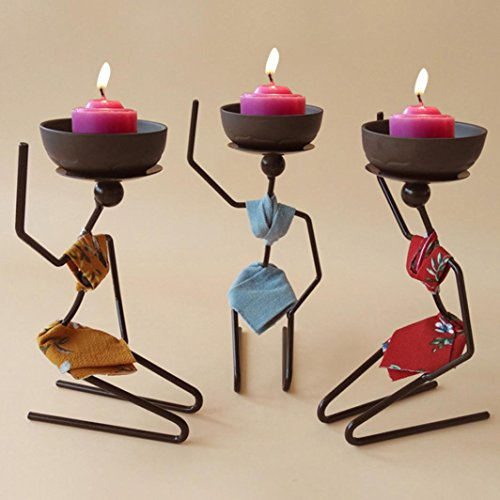 LLguz African Woman Style Metal Candle Holder Home Decor Candlestick Sconce Home Decor Living Room Decoration