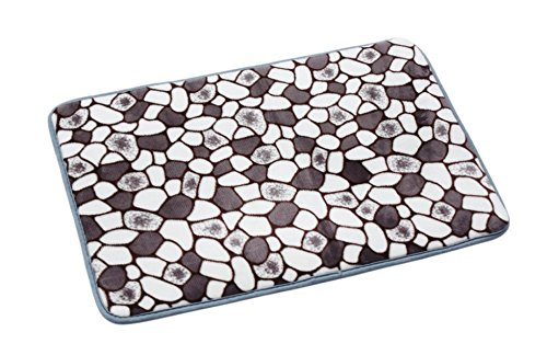 Qualified Memory Foam Mat Bath Rug Shower Non-slip Floor decoration Carpet (Gray) (Quick Halloween Decorations To Make)