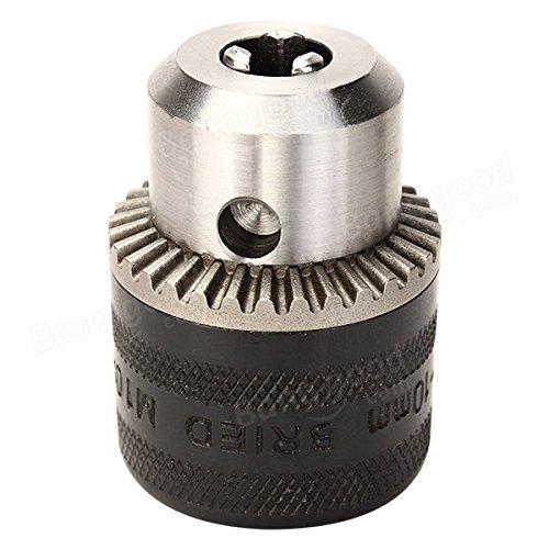 1 x Key 1 x 1-10mm Chuck 1-10mm Metal Stable Keyed Drill Chuck Convertor 100 Angle Grinder Drill Chuck M10 Thread Power Tool Parts Drill Attachment