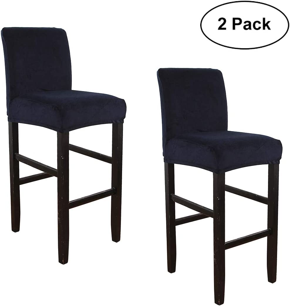Stretch Counter Height Side Chair Slipcover Protector for Dining Room Kitchen Cafe Furniture Chair WOMACO Bar Stool Covers Brown, 2 Pack