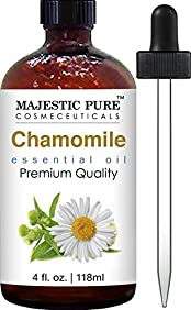 Chamomile Essential Oil From Majestic Pure, 4 Fl. Oz - Premium Quality Roman Chamomile Oil