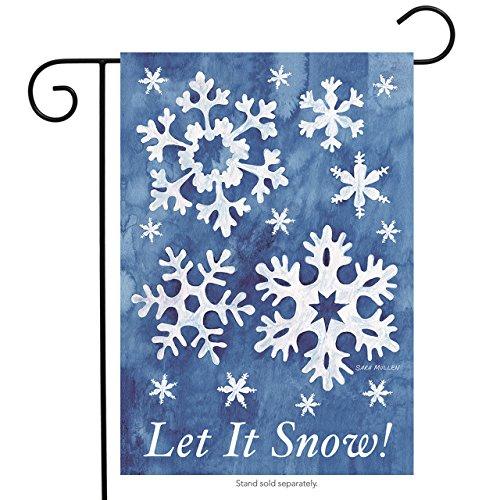 Winter Snowflake Snow (Let It Snow! Winter Garden Flag Snowflakes 12.5