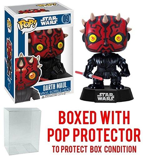 Funko Pop Star Wars Episode I  The Phantom Menace   Darth Maul  09 Vinyl Figure  Bundled With Pop Box Protector Case