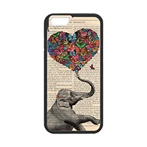 iPhone 6 Protective Case - Vintage Elephant Hardshell Cell Phone Cover Case for New iPhone 6