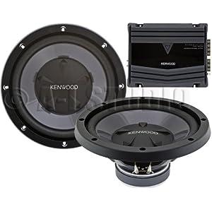 2) Kenwood KFC-W112S 12-Inch 800W Subwoofers + 400W 2-Ch Amp (Package)