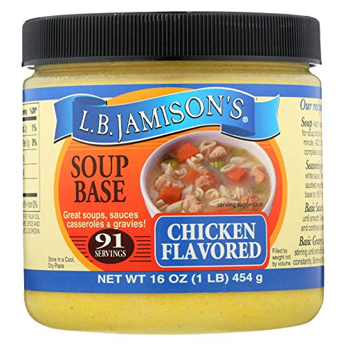 Chicken Ingredients Base - JAMISON, SOUP BASE, CHICKEN, Pack of 6, Size 16 FZ - No Artificial Ingredients