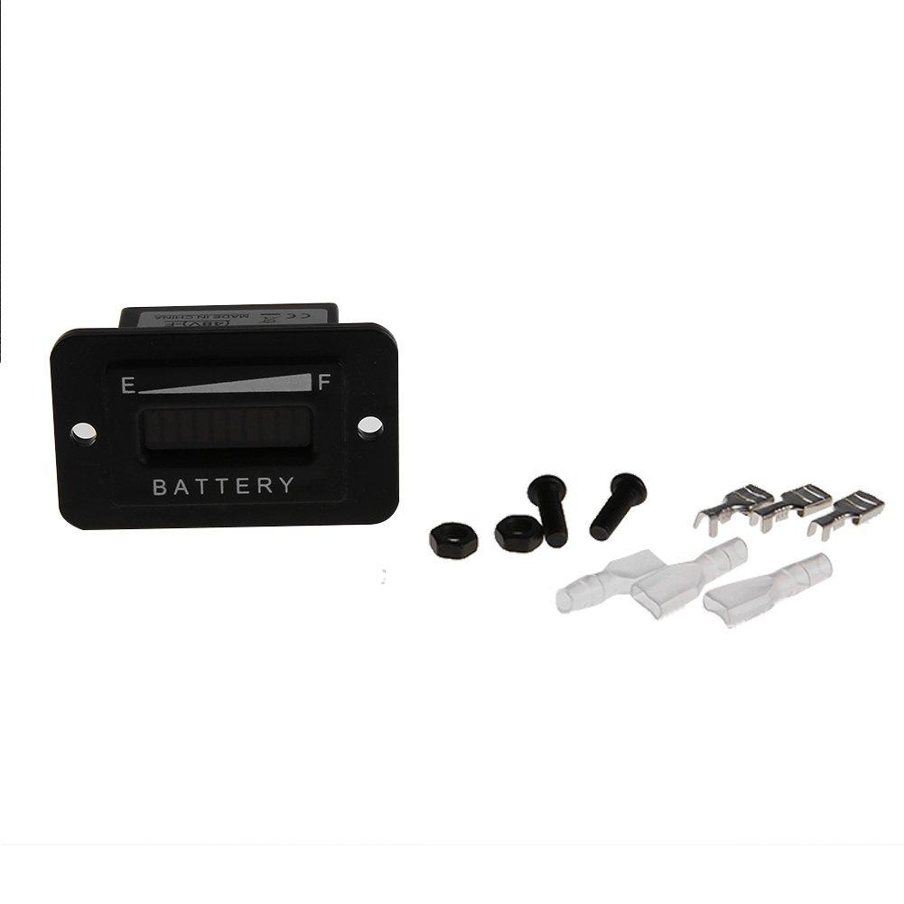 Rrimin 12v 24v Led Battery Indicator Meter Gauge Charge Discharge Level Circuit Testers For Lead Acid Golf Cart Club Car Motorbike