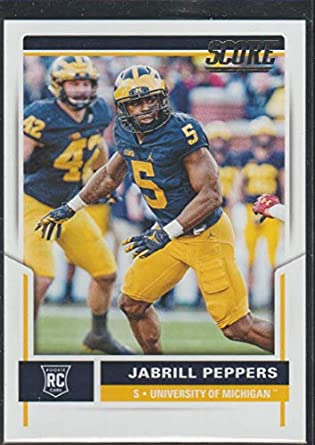 622fbd42ff8 Amazon.com  2017 Score Jabrill Peppers Browns Rookie Football Card ...