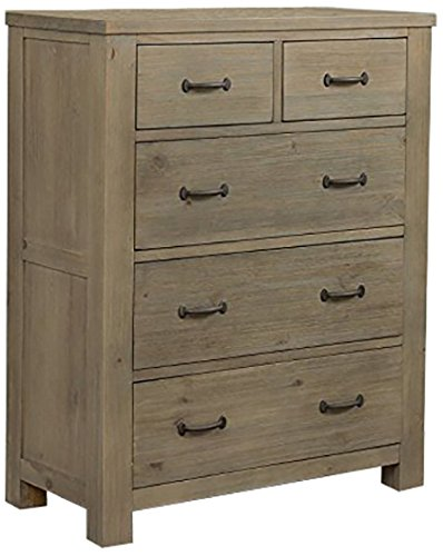 NE Kids Highlands 5 Drawer Chest in Driftwood by NE Kids