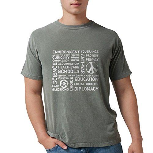 CafePress - Liberal Values 2 T-Shirt - Mens Comfort Colors Shirt (T-shirt Liberal Value)