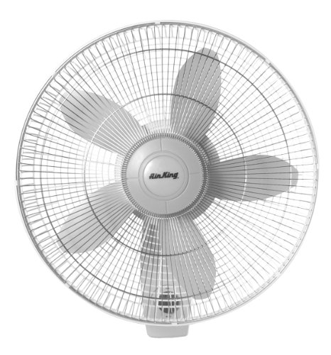 Impact Resistant Wall Mount - Air King 9018 Commercial Grade Oscillating Wall Mount Fan, 18-Inch
