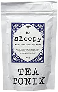 BE SLEEPY Relaxing Bedtime Tea with Valerian, Kava Root, Chamomile, and Lavender 40g - for Relaxing, Calming the Nervous System, and Promoting a Restful Sleep by Tea Tonix
