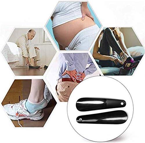 軽量 プラスチック旅行靴べら転スプーン靴ヘルパーで穴 耐用 (Color : Purple, Size : 16cm)