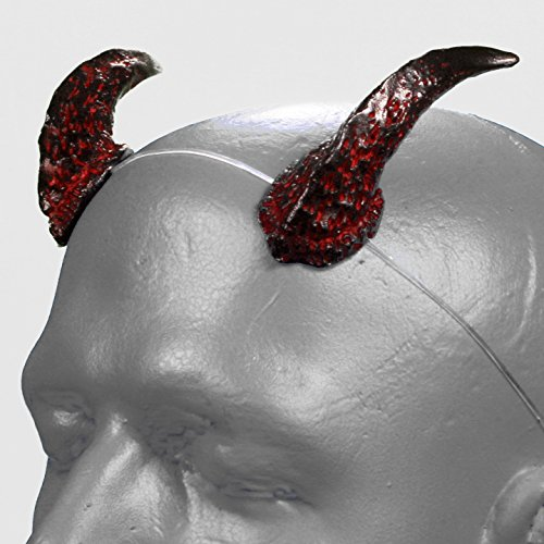 Demon Faun Costume (Satyr v2 Black & Red Devil Horns w/ adjustable, self locking invisible headband)