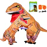 ANNTOY T Rex Costume Inflatable Dinosaur Costume with Exclusive Drawstring Bag Halloween Costumes for Adult Kids(2 Pcs)