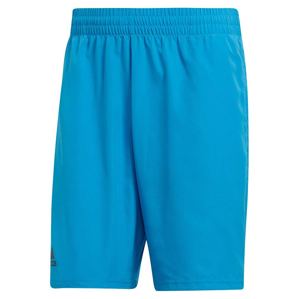 adidas Men's Club Shorts 9'' Shock Cyan/Black Small 9