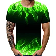 Unisex 3D Printed Shirts Summer Crewneck Humor Graphic Short Sleeve Tops T-Shirts for Men's