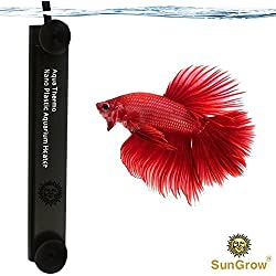 Betta Heater by Sungrow - Fully Submersible Aquarium Heater - Automatically Reaches Preset Temperature - Energy-efficient Heating Module - Has Suction Cups for Easy Installation - 100% Safe for Fish