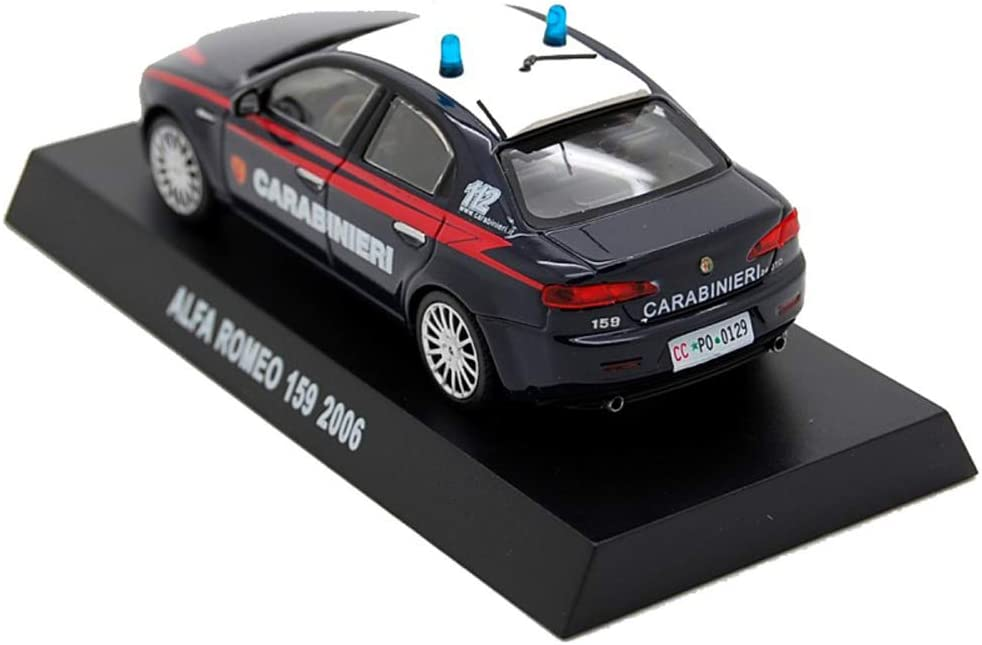 Blu Scala 1:43 Die Cast Modellino Auto Carabinieri Alfa Romeo 159 2006
