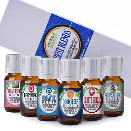 Healing Solutions Best Blends Essential Oil Set (Set of 6) by Healing Solutions